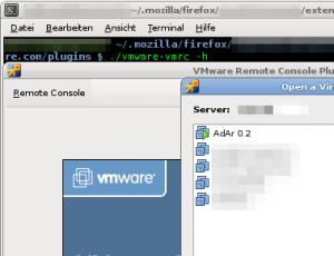 VMWare Plugin: VM-Liste